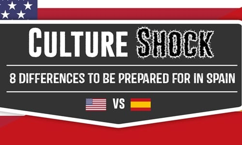 Culture Shock: Life in Spain vs. Life in the U.S. [Infographic]