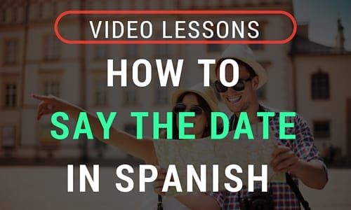 How to say dates in spanish