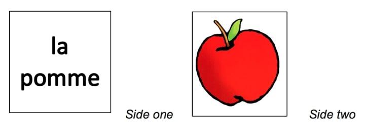 Apple Flashcard - French vocab