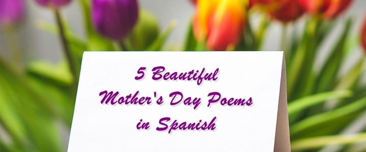 5 Beautiful Mother's Day Poems in Spanish