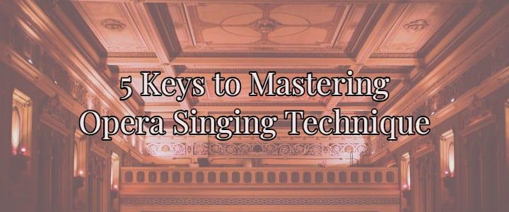 Opera singing technique