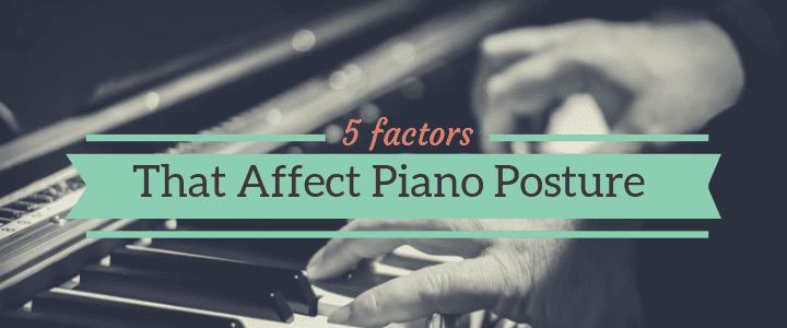 correct piano posture